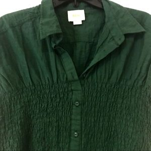 Anthropologie Tops - Maeve Hunter Green Button Up Shirt